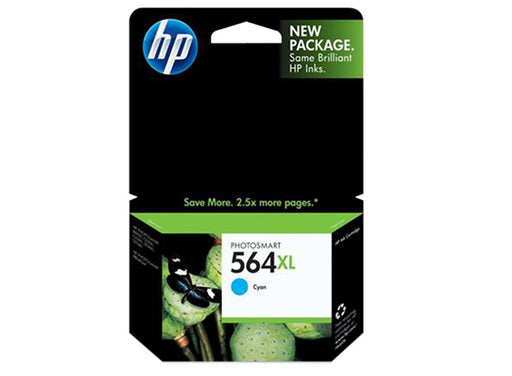 HP 564XL High Yield Cyan Original Ink Cartridge - OEM