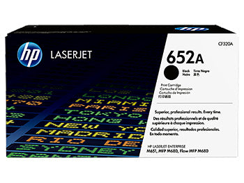 HP 652A Black Original LaserJet Toner Cartridge, CF320A - OEM