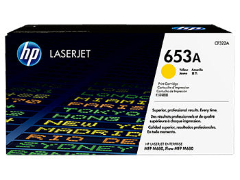 HP 653A Yellow Original LaserJet Toner Cartridge, CF322A - OEM