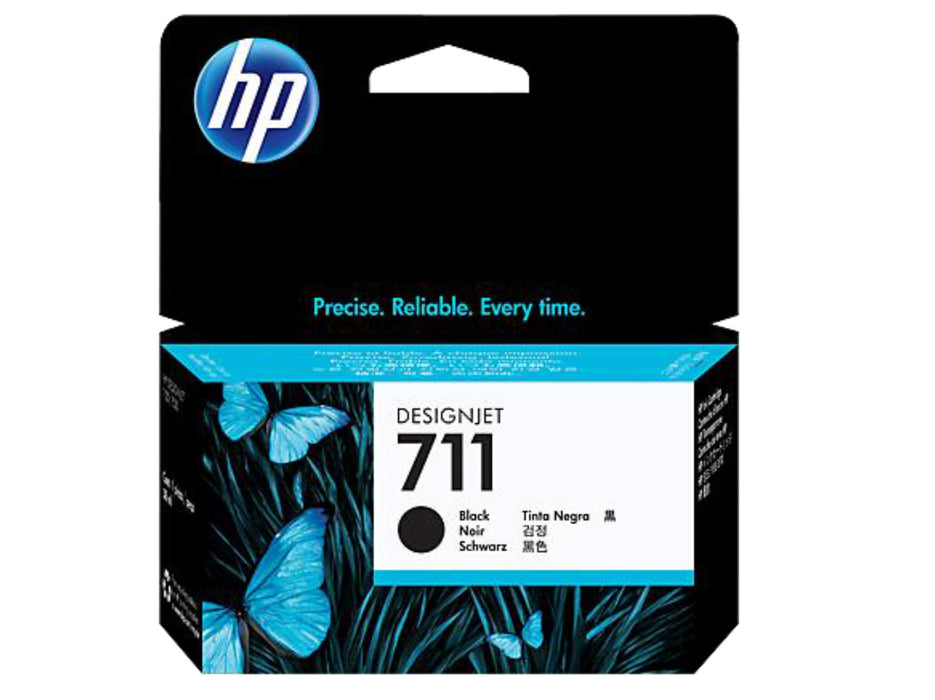 HP 711 38-ml Black DesignJet Ink Cartridge - OEM
