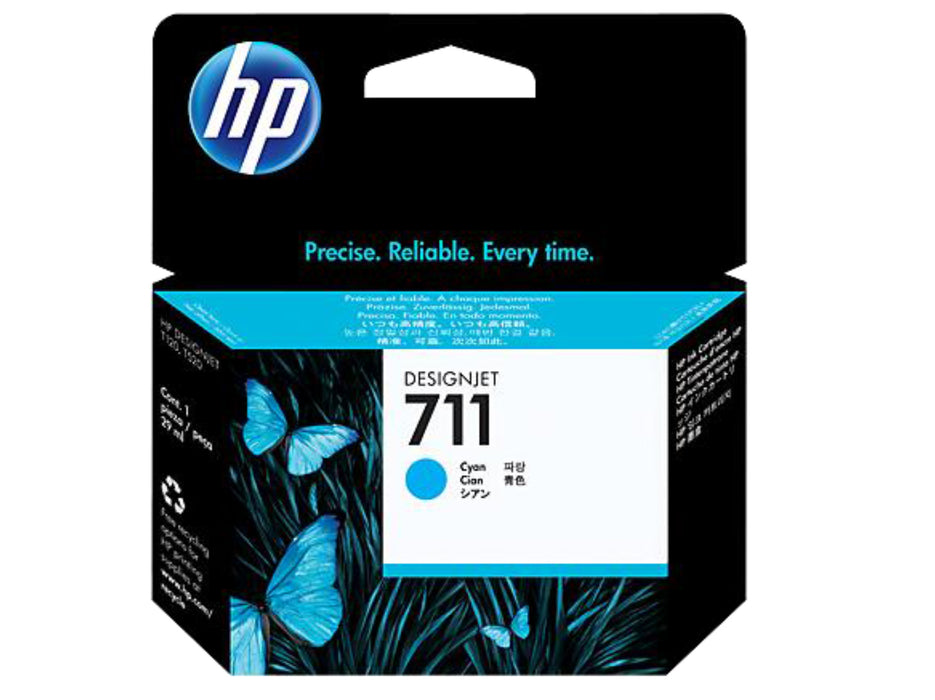 HP 711 29-ml Cyan DesignJet Ink Cartridge - OEM