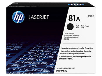 HP 81A Black Original LaserJet Toner Cartridge, CF281A - OEM