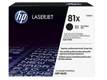 HP 81X High Yield Black Original LaserJet Toner Cartridge, CF281X - OEM