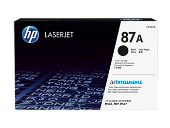 HP 87A Black Original LaserJet Toner Cartridge, CF287A - OEM