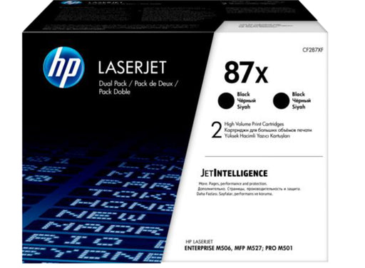 HP 87X 2-pack High Yield Black Original LaserJet Toner Cartridges - OEM