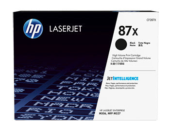 HP 87X High Yield Black Original LaserJet Toner Cartridge, CF287X - OEM