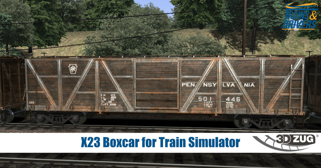 The X23 Boxcar Add-On for Train Simulator will arrive this week!
