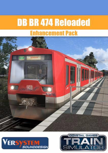 The DB BR474 Enhancement Pack for Train Simulator, developed by Lukas Creative Design and Versystem, for Train Simulator adds new physics, new braking behavior, updated destination blinds, new textures and prototypical sounds to the DB BR 474 from Dovetail Games has now arrived at trainsim.store.
