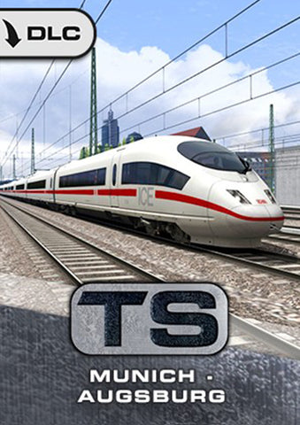 The Munich to Augsburg line is a fantastic German high-speed railway line for Train Simulator, complete with ICE 3 high-speed trains. Now available here at trainsim.store.
