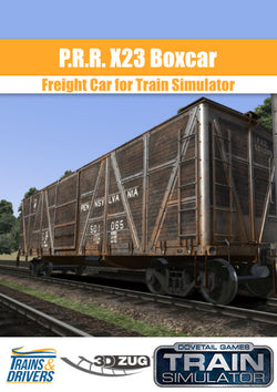 3DZUG and Trains & Drivers present the stunningly detailed and faithfully recreated X23 Boxcar Add-On for the Worlds leading Train Simulation Game.