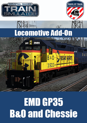 The Electro-Motive Division's GP35 in B&O and Chessie liveries, developed by Travel by Train, for Train Simulator by Dovetail Games, is a superb addition to your fleet of classic and iconic American locomotives