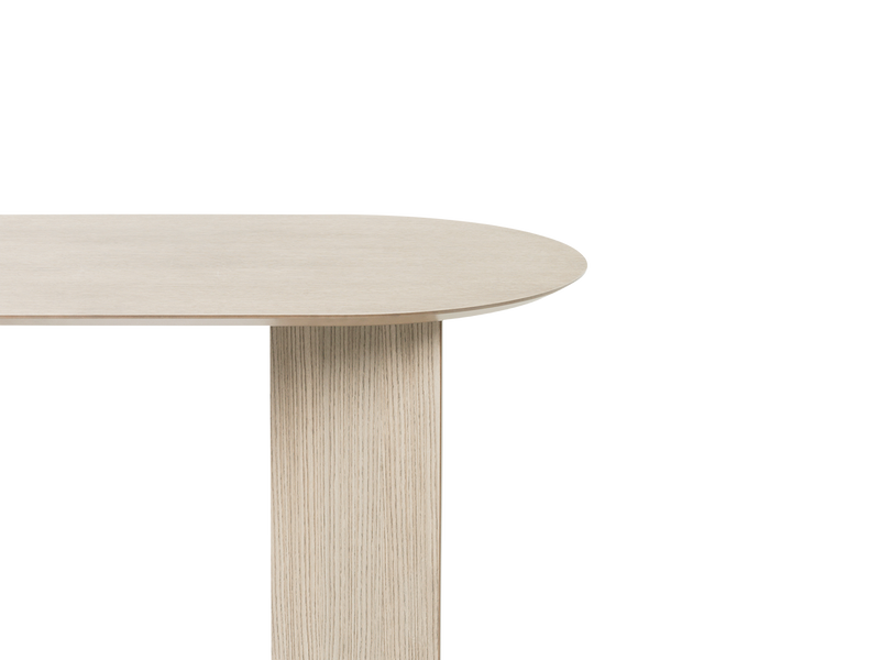 Ferm Living | Mingle Table Top Oval and Wooden Legs - Natural Oak