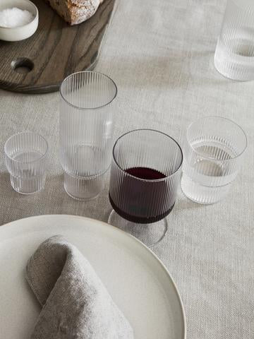 ferm LIVING | Ripple Small Glasses - Set of 4 - Clear