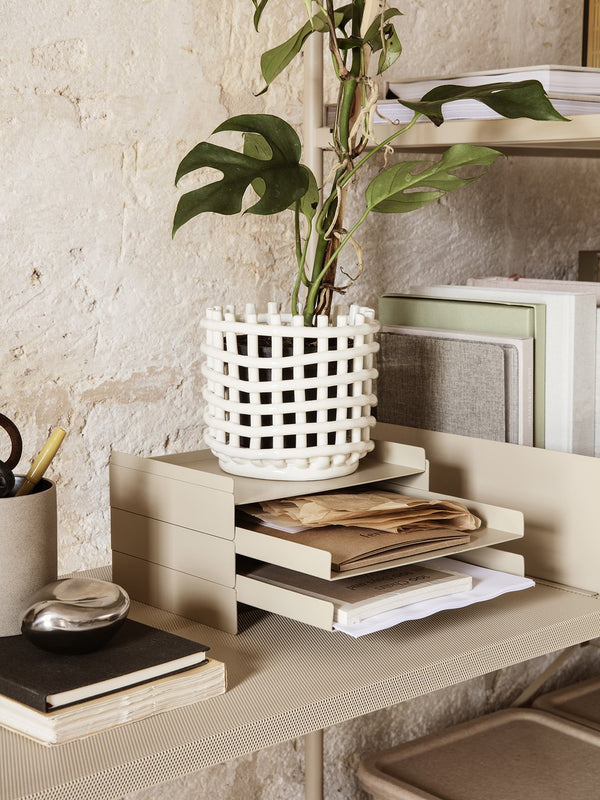 Ferm LIVING | Ceramic Basket - Small - Off-White