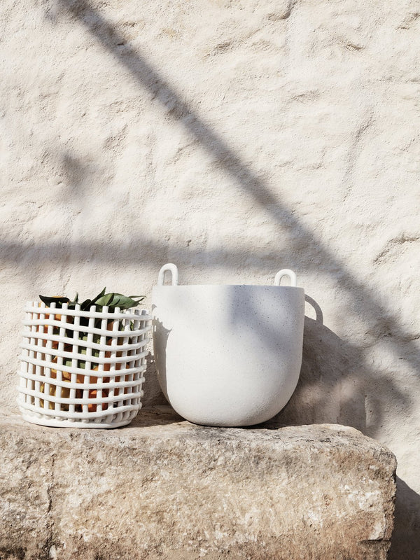 Ferm LIVING | Ceramic Basket - Large - Off White