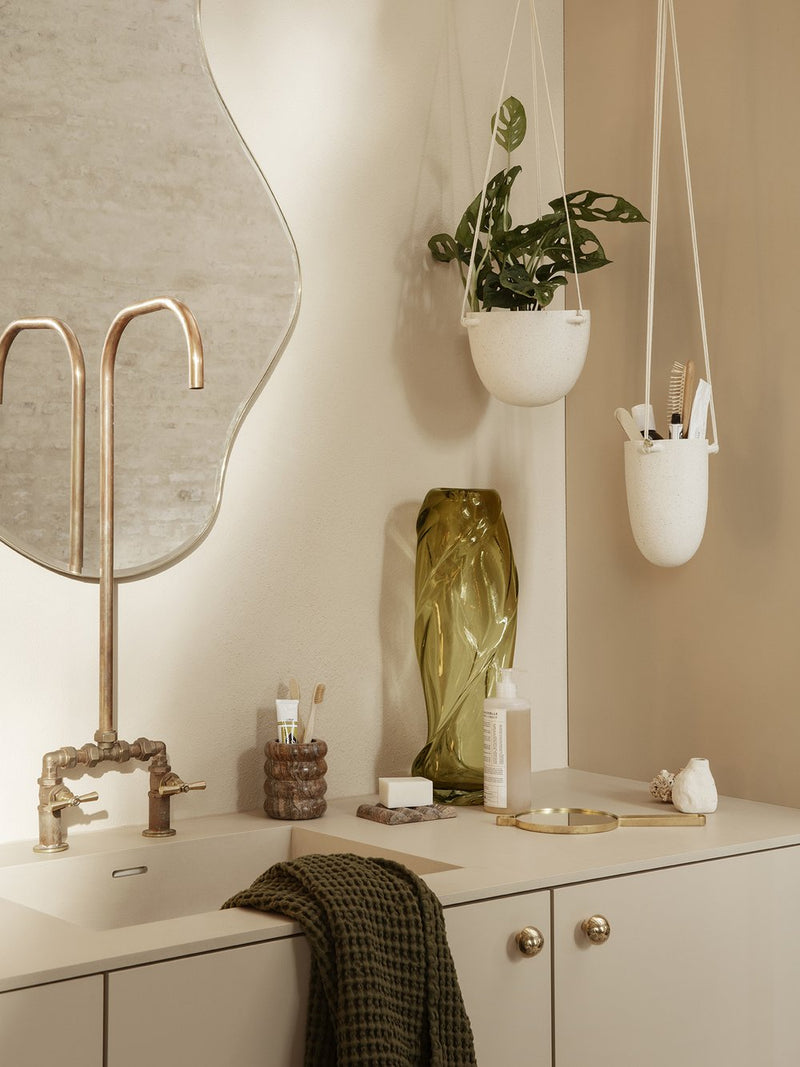 ferm LIVING | Speckle Hanging Pot - Off White - Large