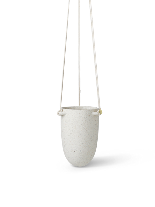 ferm LIVING | Speckle Hanging Pot - Off White - Small