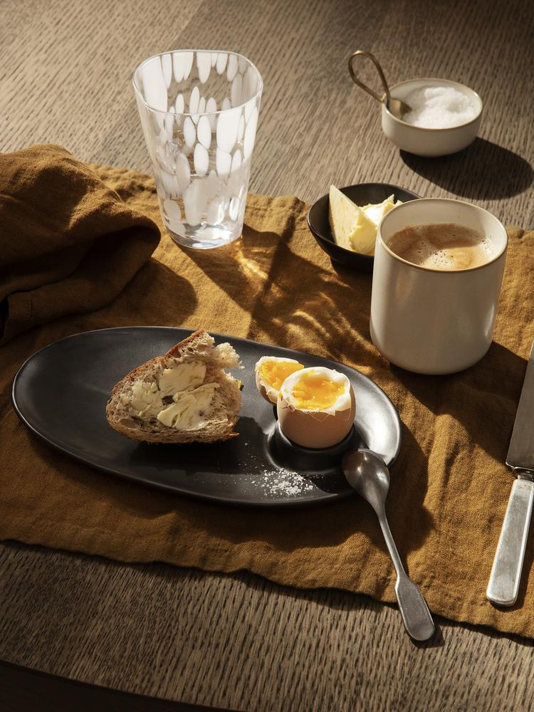ferm LIVING | Flow Breakfast Plate - Black