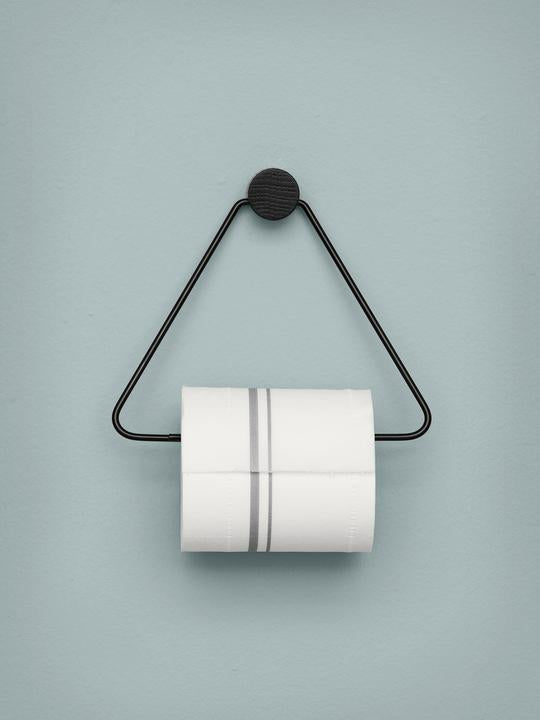 ferm LIVING | Black Toilet Paper Holder