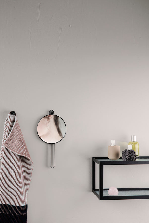 ferm LIVING | Poise Hand Mirror Black