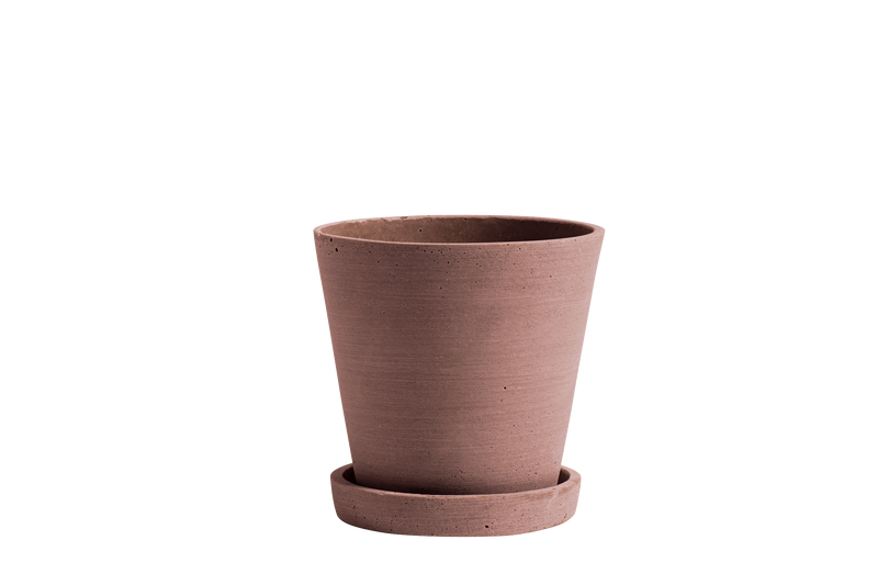 HAY | Flower Pot With Saucer - Terracotta - M