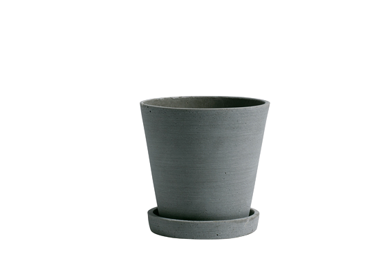 HAY | Flower Pot With Saucer - Green - M