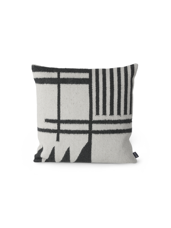 ferm LIVING | Kelim Cushion - Black Lines