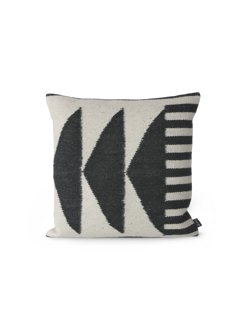 ferm LIVING | Kelim Cushion - Black Triangles
