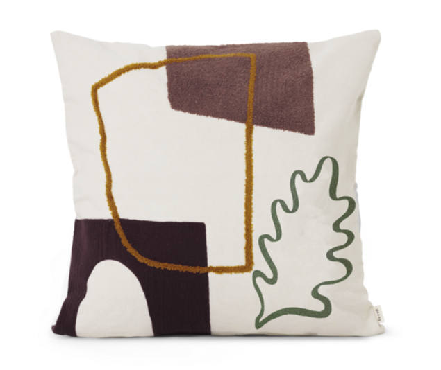 ferm LIVING | Mirage Cushion - Leaf
