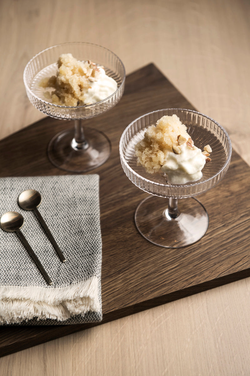 ferm LIVING | Ripple Champagne Saucer (set of 2) - Clear