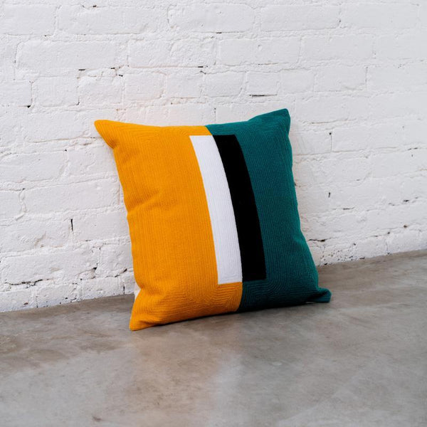 Dusen Dusen | Embroidered Cushion - Block
