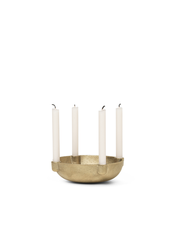 Ferm LIVING | Bowl Candle Holder - Brass