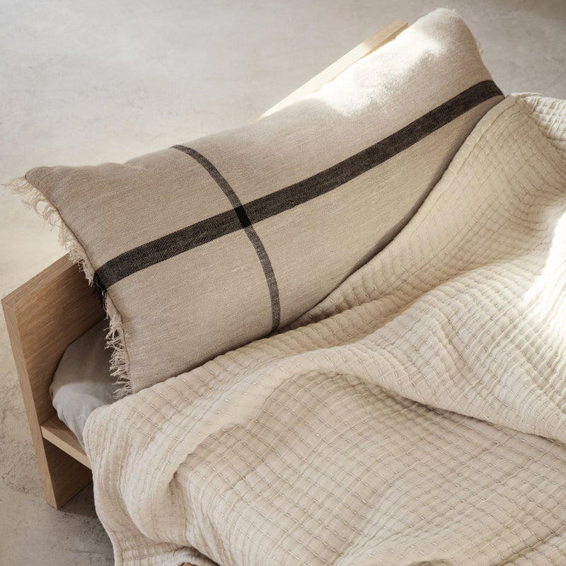 ferm LIVING | Calm Long Cushion - Camel/Black