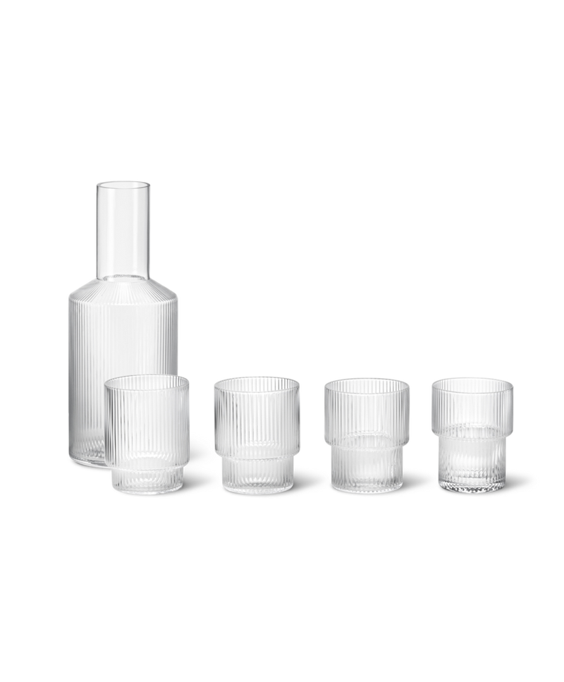 ferm LIVING | Ripple Carafe & Glasses Set - Clear