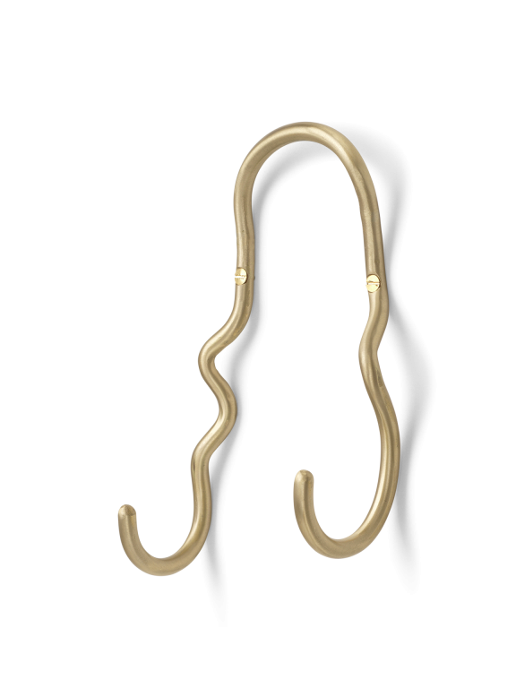 ferm LIVING | Curvature Double Hook - Brass