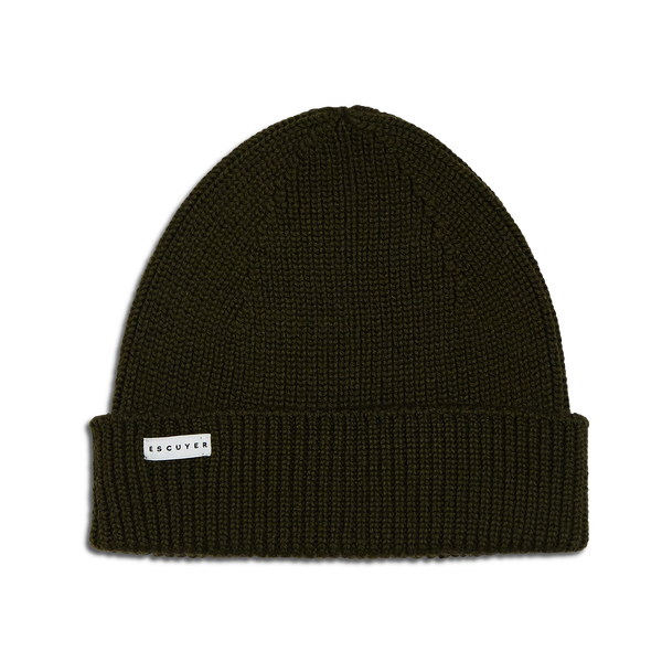 Escuyer | Ribbed Merino Beanie