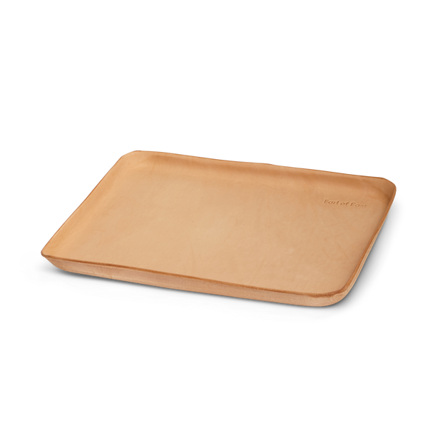 Earl of East | Large Leather Valet Tray - Natural Leather