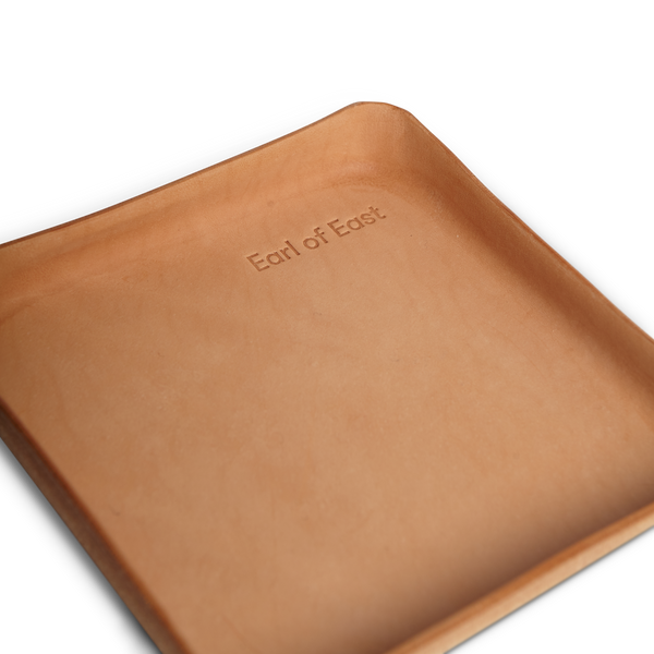 Earl of East | Small Leather Tray -Natural Leather