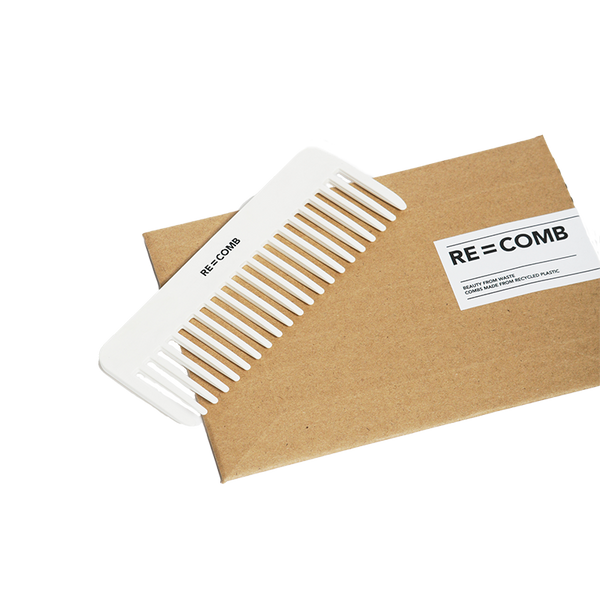 RE=COMB | Recycled Plastic Hair Comb - Chalk