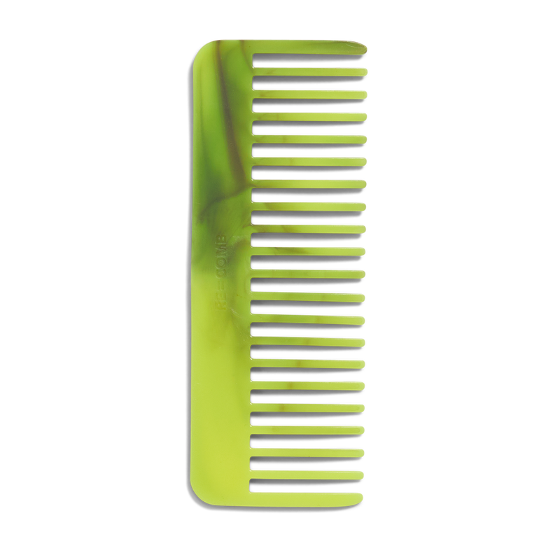 RE=COMB | Recycled Plastic Hair Comb - Neon Yellow