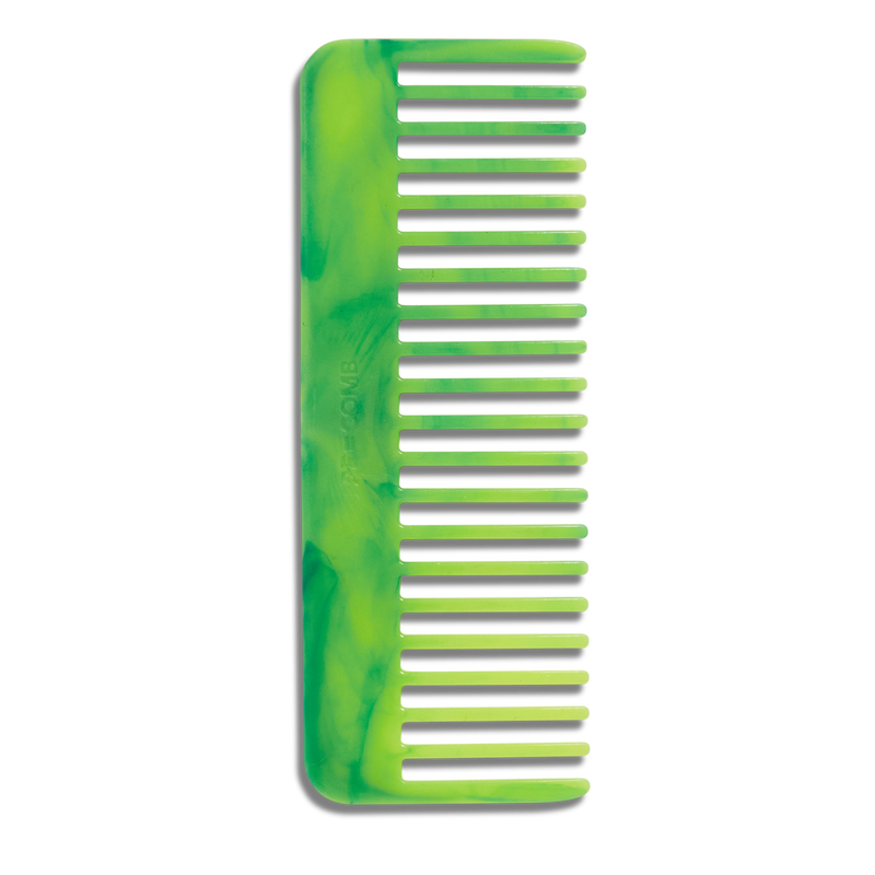 RE=COMB | Recycled Plastic Hair Comb - Neon Green