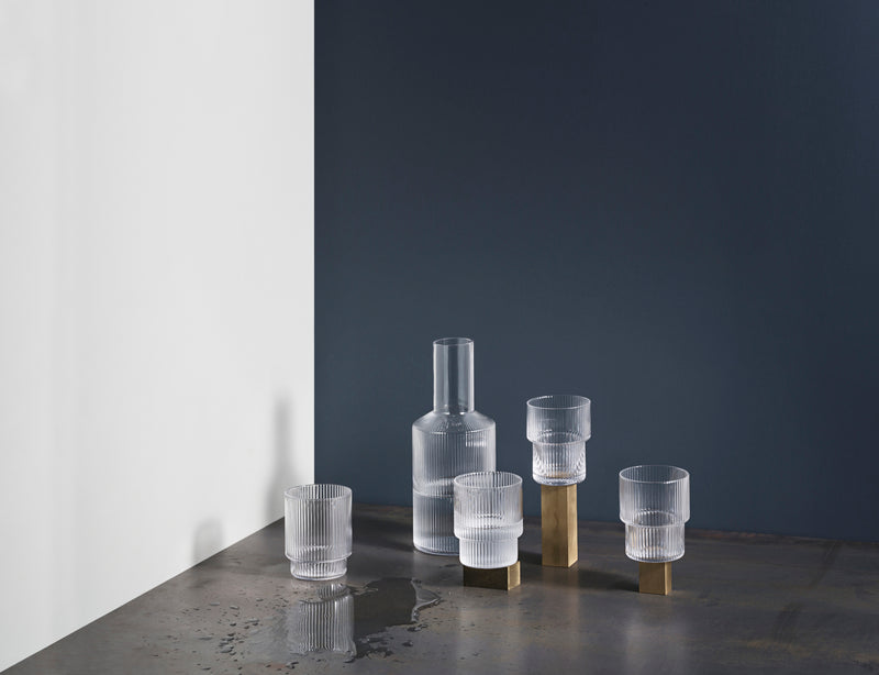 ferm LIVING | Ripple Glass (set of 4) - Clear