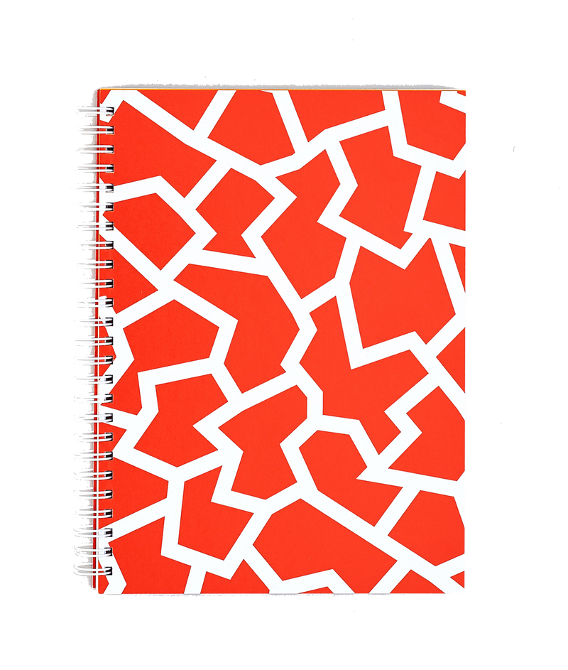 Wrap | Fracture Red Notebook - Large