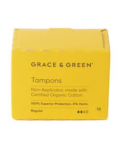 Grace & Green | Organic Non-Applicator Tampons - Regular