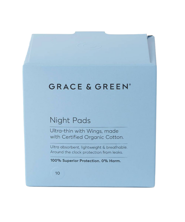 Grace & Green | Organic Pads with Wings - Night