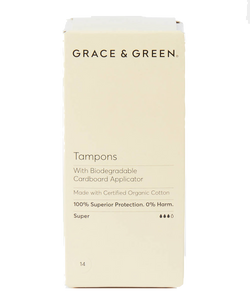 Grace & Green | Organic Applicator Tampons - Super