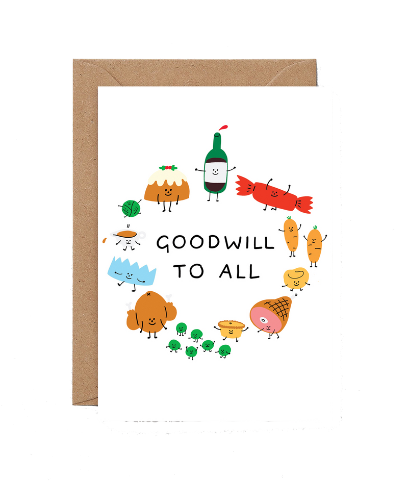 Wrap | Goodwill To All - Christmas Card