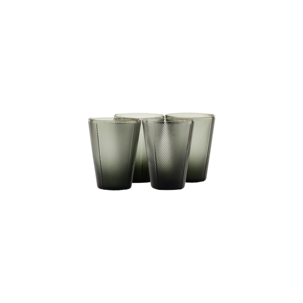 House Doctor | Milo Glasses - Smoked Grey - Set of 4