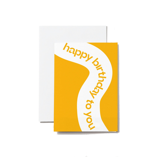Happy Birthday - A6 Greeting Card