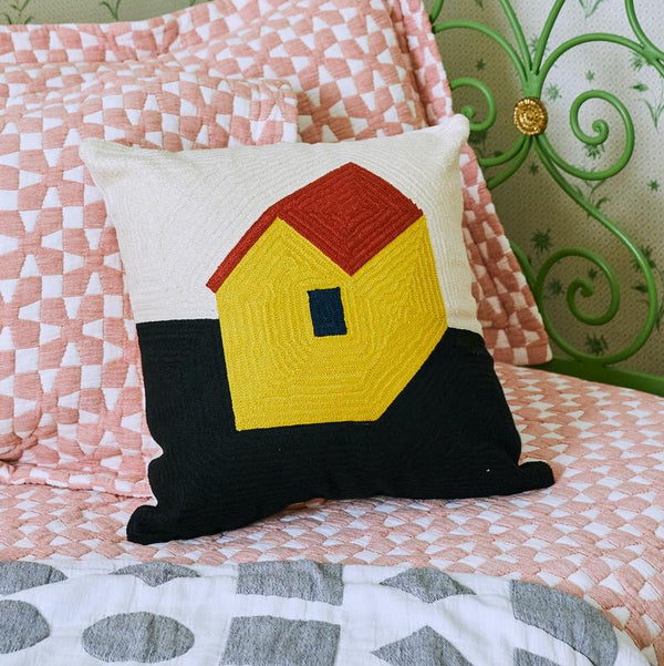 Dusen Dusen | Embroidered Cushion - House